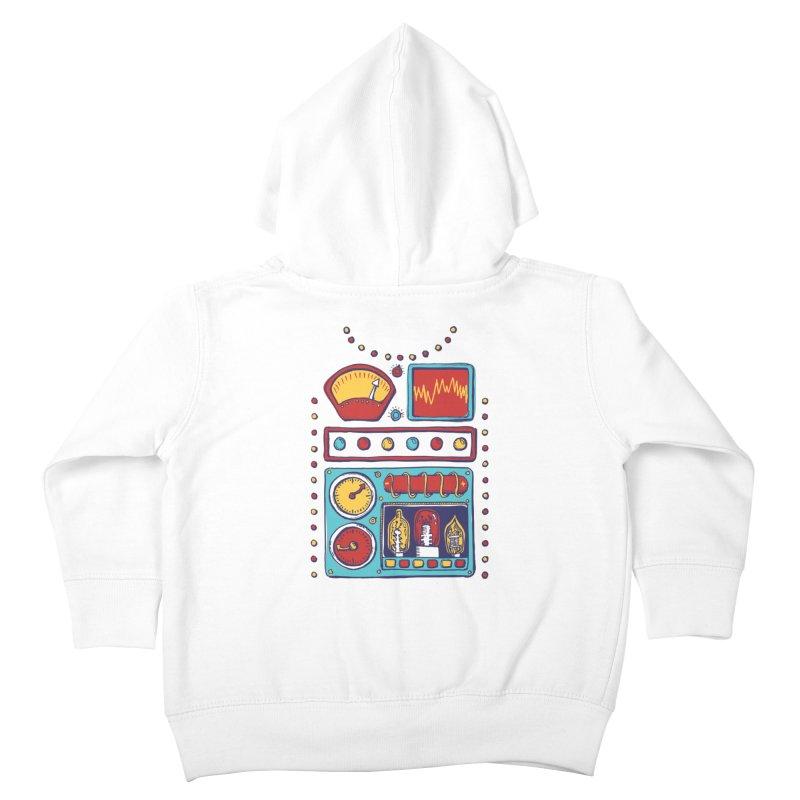 Retrobot 2000 Kids Toddler Zip-Up Hoody by Jason Castillo Illustration
