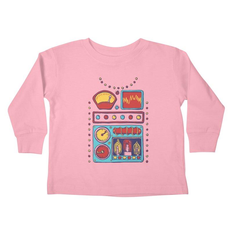 Retrobot 2000 Kids Toddler Longsleeve T-Shirt by Jason Castillo Illustration