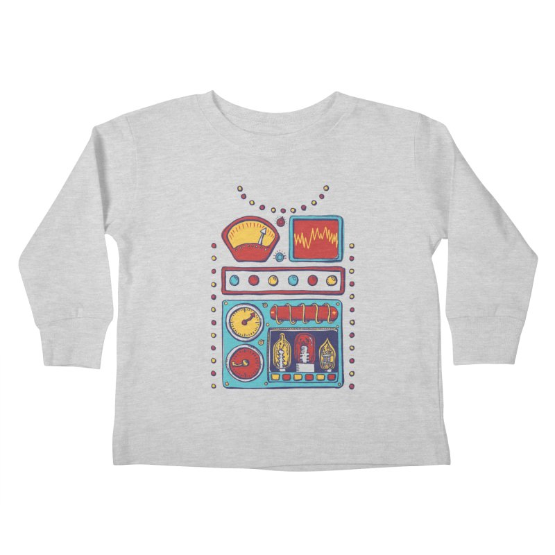 Retrobot 2000 Kids Toddler Longsleeve T-Shirt by Jason Castillo Illustration