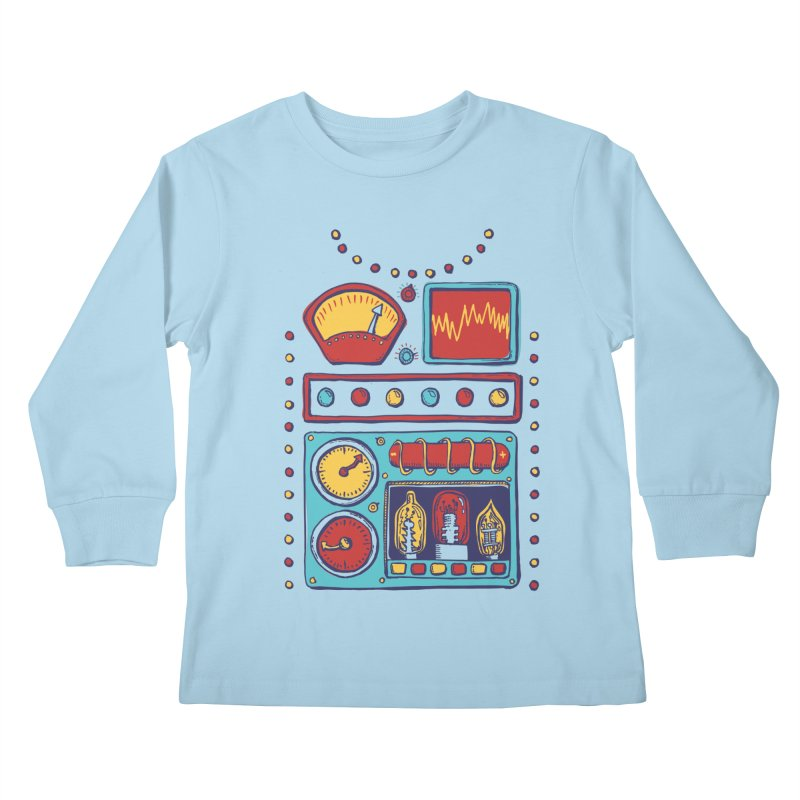Retrobot 2000 Kids Longsleeve T-Shirt by Jason Castillo Illustration