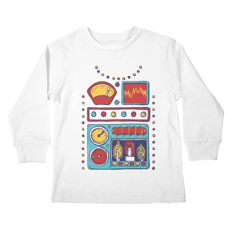 Retrobot 2000 Kids Longsleeve T-Shirt by Jason Castillo Illustration