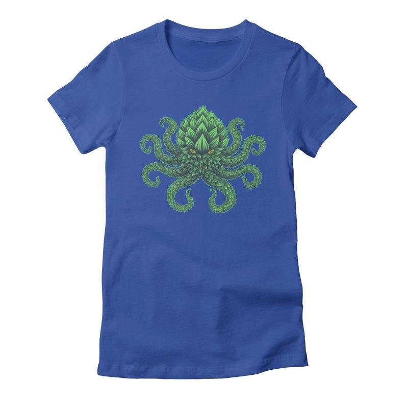Hoptopus Women's Fitted T-Shirt by Jason Castillo Illustration