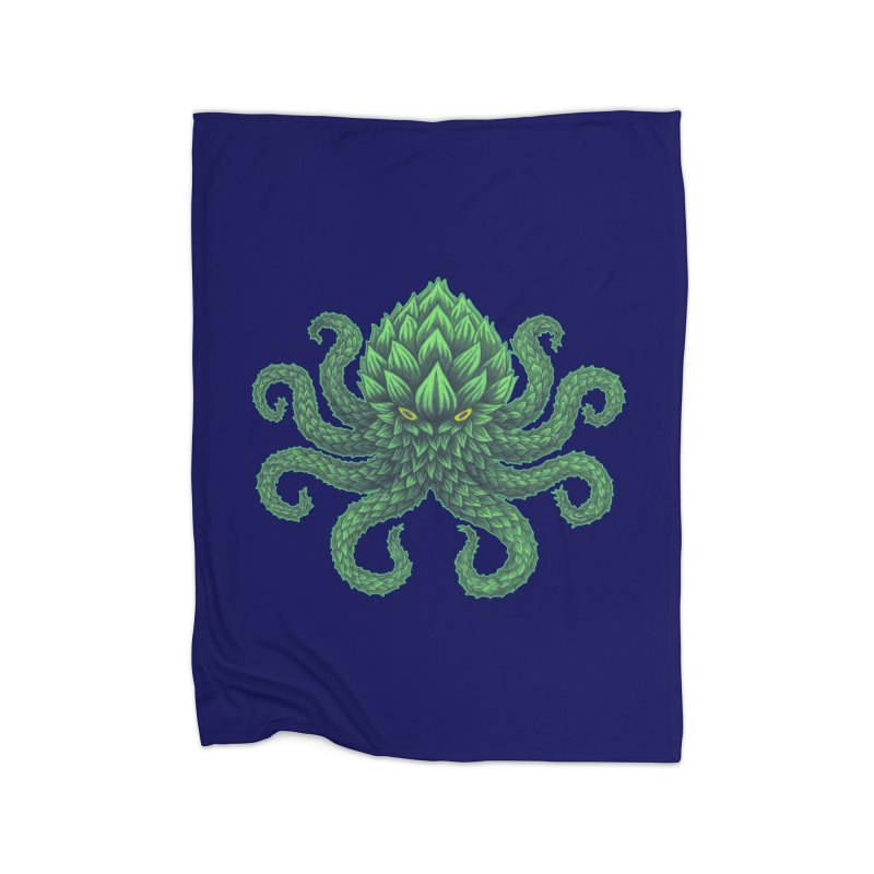 Hoptopus Home Blanket by Jason Castillo Illustration