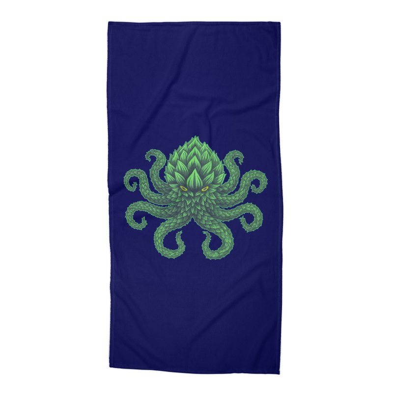 Hoptopus Accessories Beach Towel by Jason Castillo Illustration