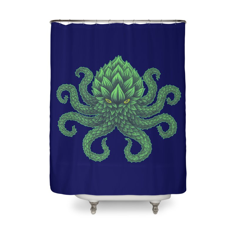 Hoptopus Home Shower Curtain by Jason Castillo Illustration