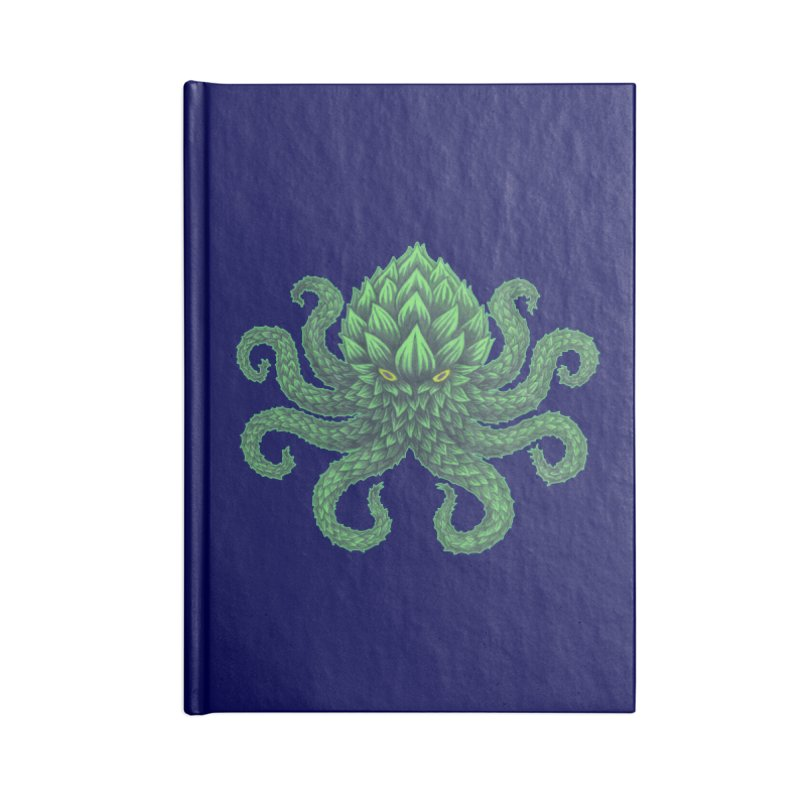 Hoptopus Accessories Lined Journal Notebook by Jason Castillo Illustration