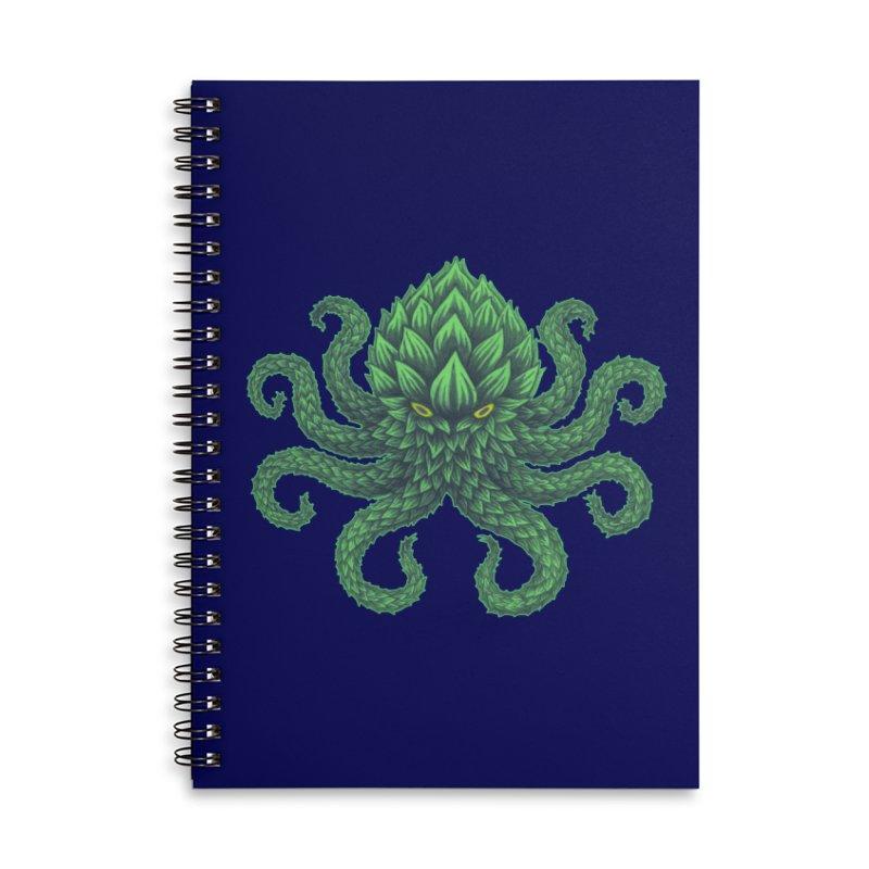Hoptopus Accessories Lined Spiral Notebook by Jason Castillo Illustration
