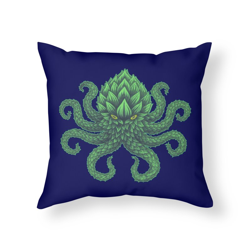 Hoptopus Home Throw Pillow by Jason Castillo Illustration