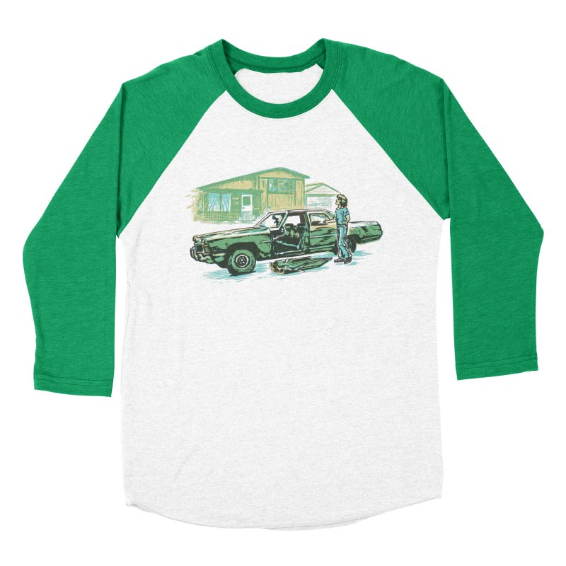 That Old Car Men's Baseball Triblend Longsleeve T-Shirt by Jason Castillo Illustration