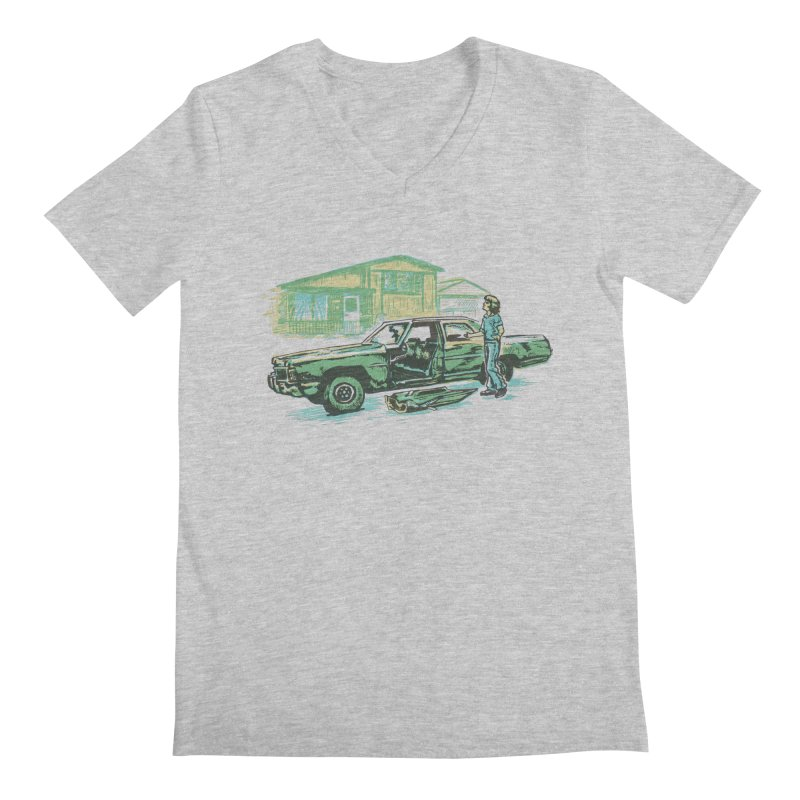 That Old Car Men's V-Neck by Jason Castillo Illustration