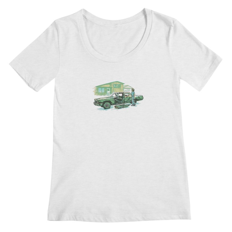That Old Car Women's Scoopneck by Jason Castillo Illustration