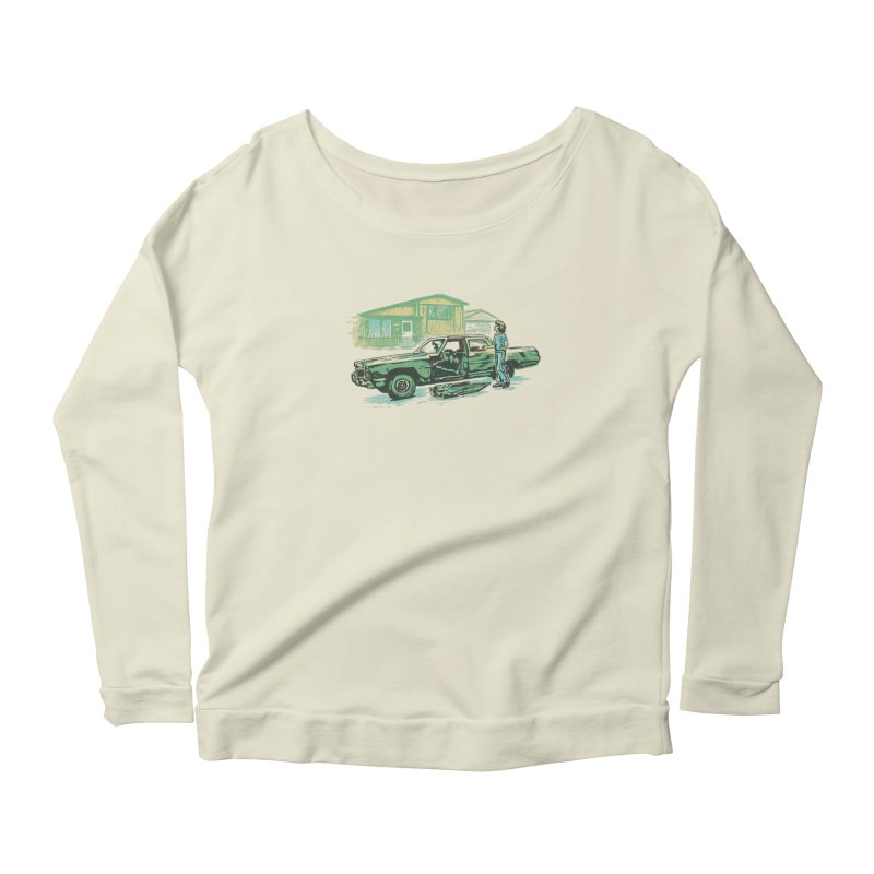 That Old Car Women's Longsleeve Scoopneck  by Jason Castillo Illustration