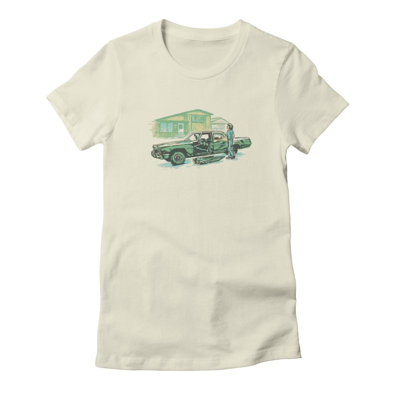 That Old Car Women's Fitted T-Shirt by Jason Castillo Illustration