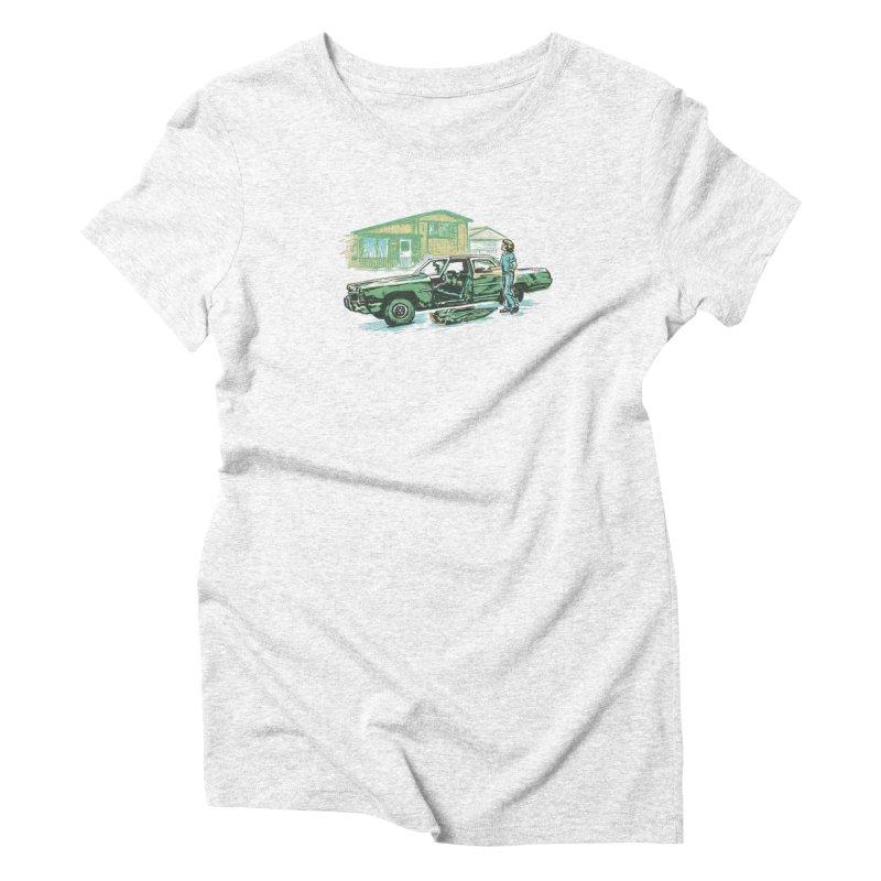 That Old Car Women's Triblend T-shirt by Jason Castillo Illustration