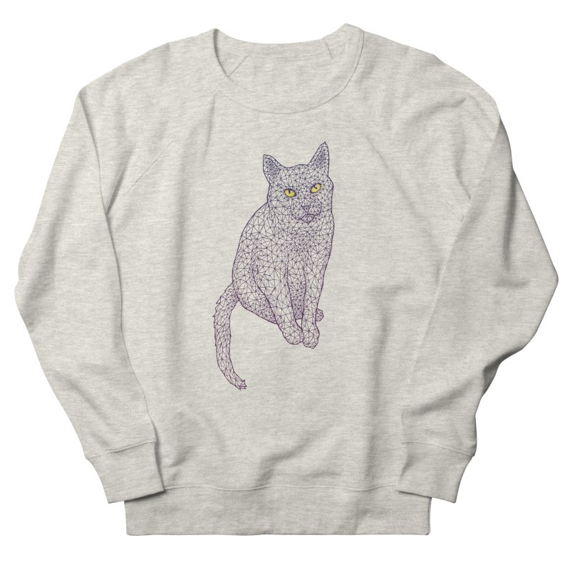 Polycat Men's French Terry Sweatshirt by Jason Castillo Illustration
