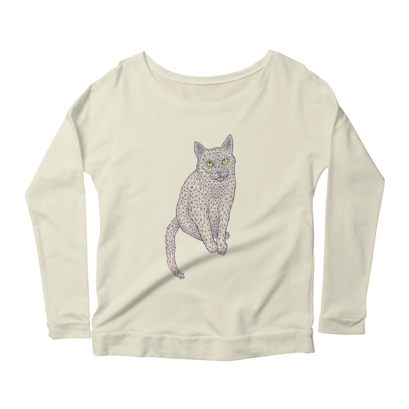 Polycat Women's Longsleeve Scoopneck  by Jason Castillo Illustration