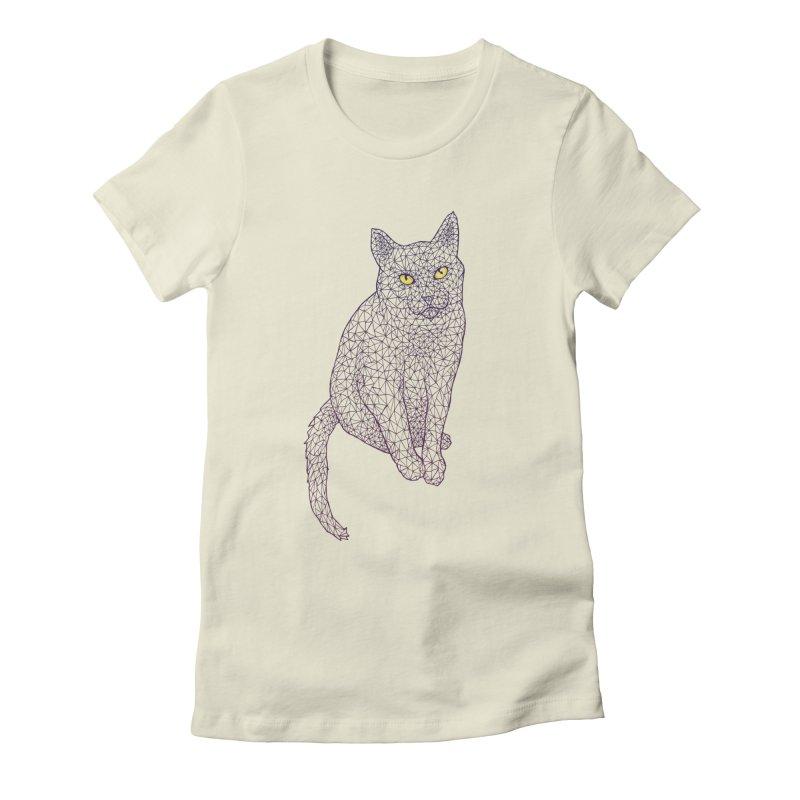 Polycat Women's Fitted T-Shirt by Jason Castillo Illustration
