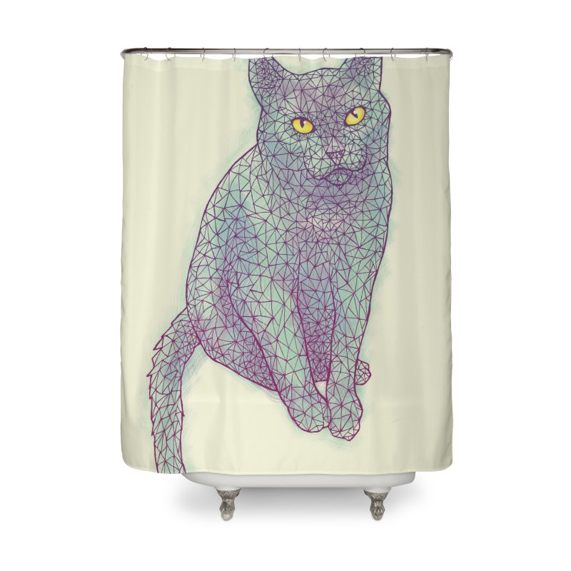 Polycat Home Shower Curtain by Jason Castillo Illustration