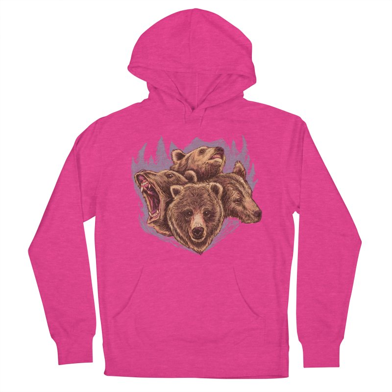 Four Bears Women's French Terry Pullover Hoody by Jason Castillo Illustration