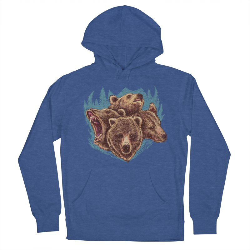 Four Bears Men's French Terry Pullover Hoody by Jason Castillo Illustration