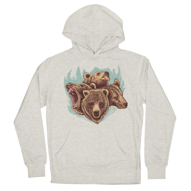 Four Bears Men's French Terry Pullover Hoody by Jason Castillo Illustration