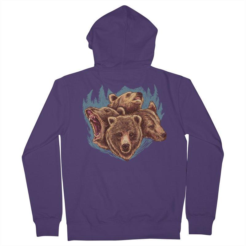 Four Bears Women's Zip-Up Hoody by Jason Castillo Illustration