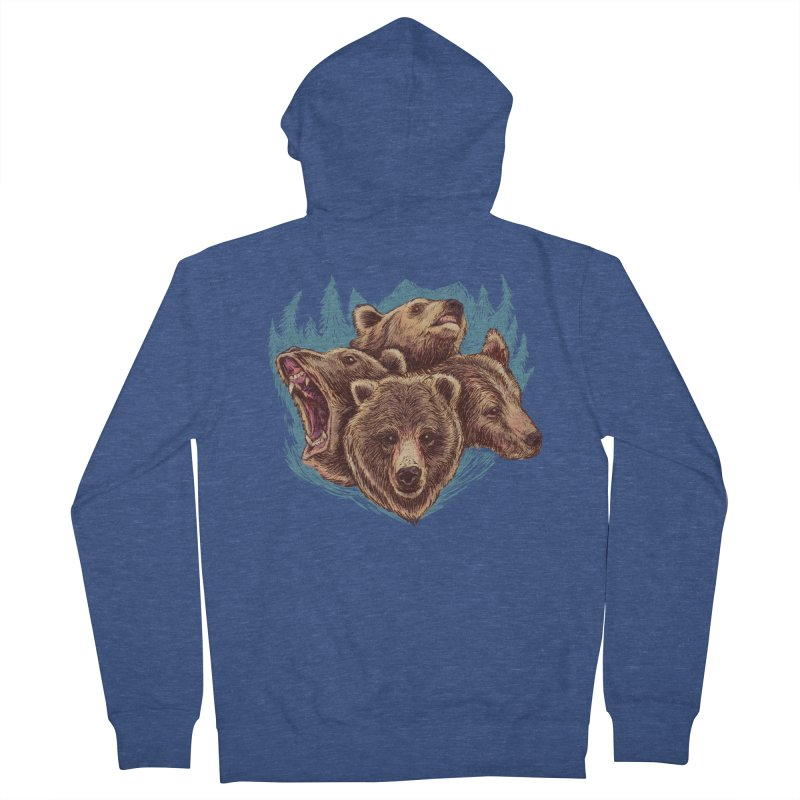 Four Bears Men's French Terry Zip-Up Hoody by Jason Castillo Illustration