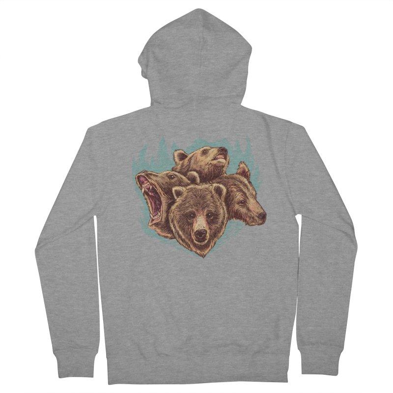 Four Bears Men's French Terry Zip-Up Hoody by Jason Castillo Illustration