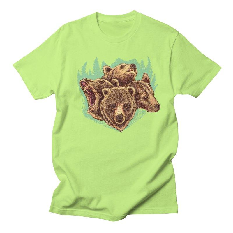 Four Bears Men's Regular T-Shirt by Jason Castillo Illustration