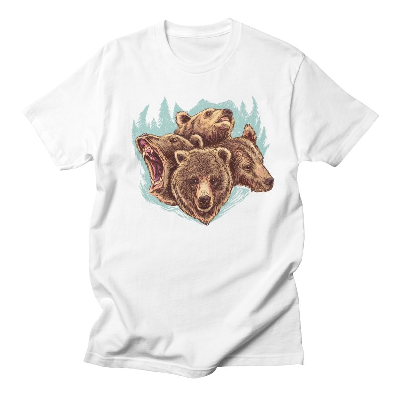 Four Bears Men's Regular T-Shirt by Jason Castillo Illustration