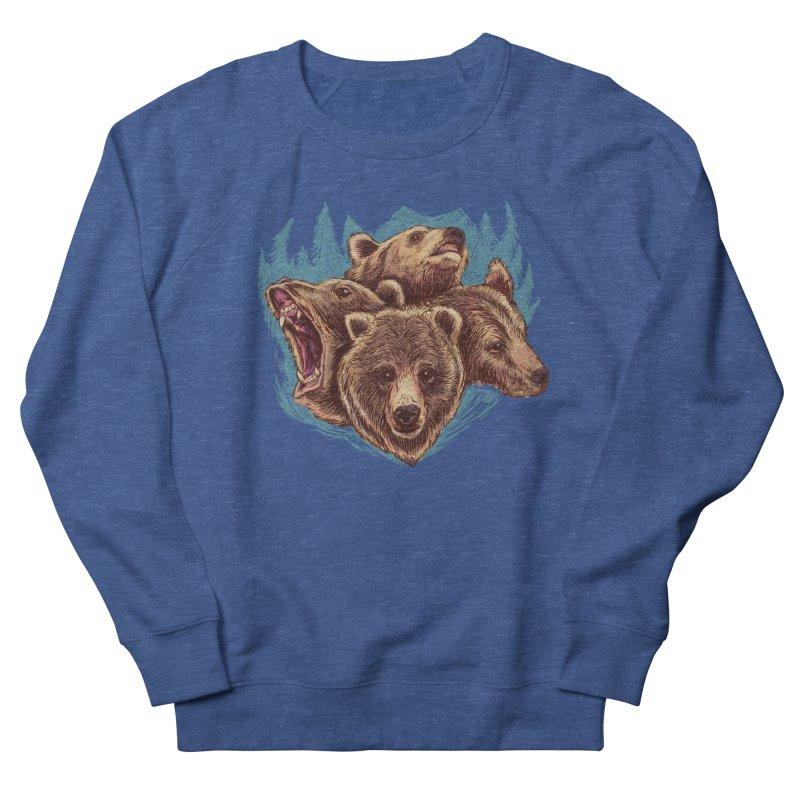Four Bears Women's French Terry Sweatshirt by Jason Castillo Illustration