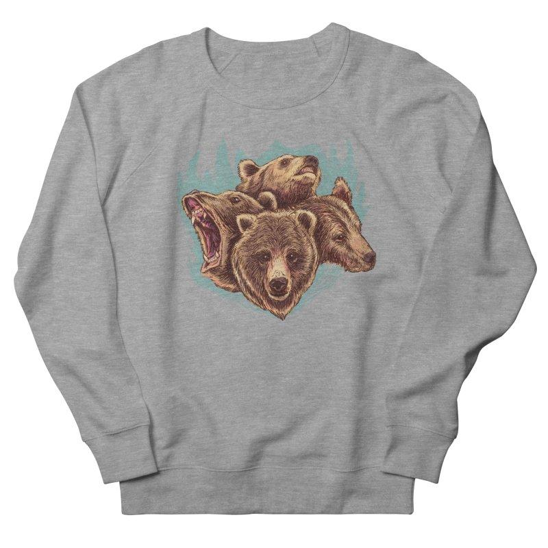 Four Bears Men's French Terry Sweatshirt by Jason Castillo Illustration