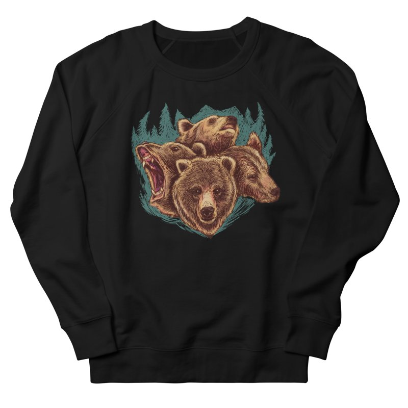 Four Bears Men's French Terry Sweatshirt by Jason Castillo Illustration