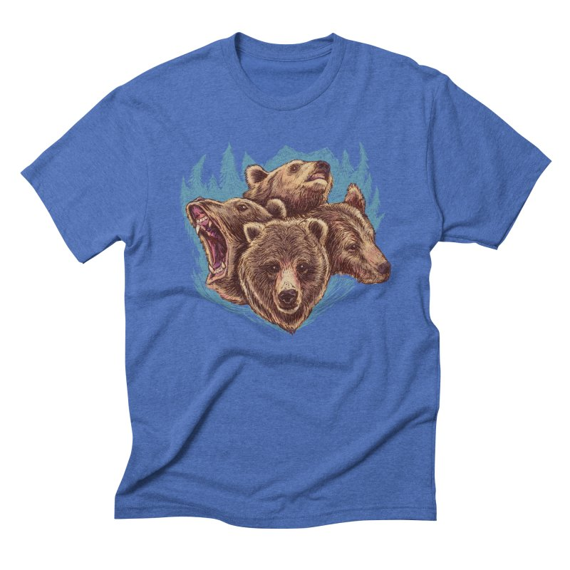 Four Bears Men's T-Shirt by Jason Castillo Illustration