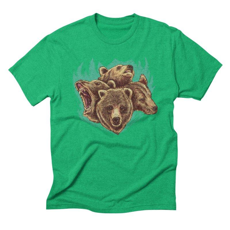 Four Bears Men's Triblend T-Shirt by Jason Castillo Illustration