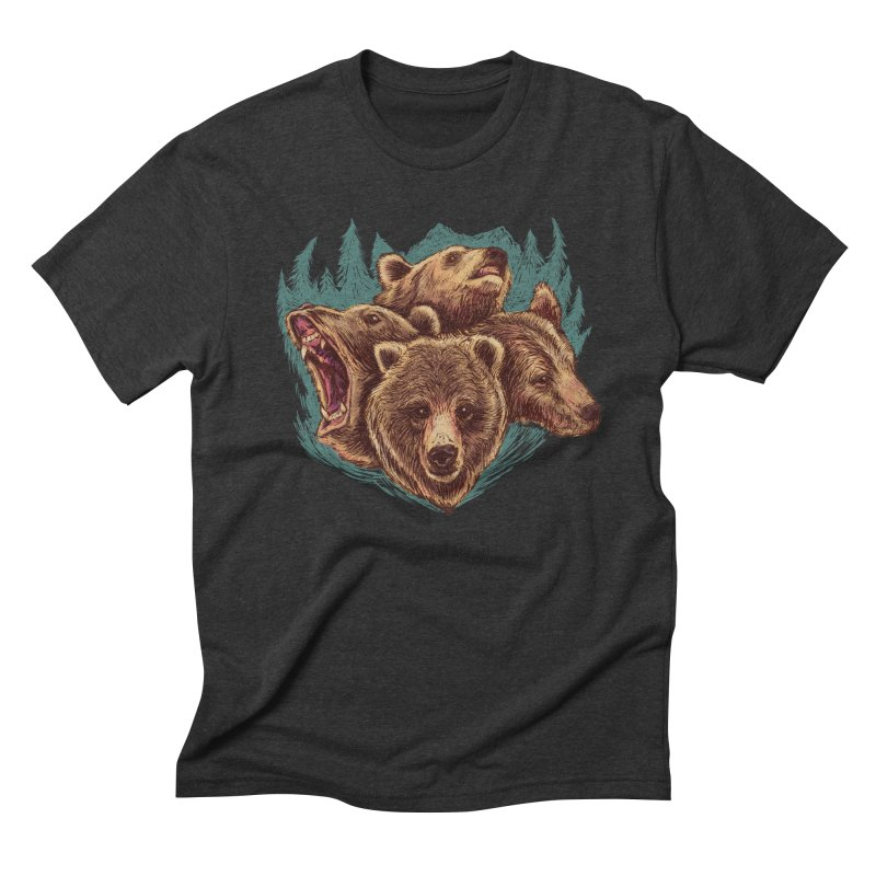 Four Bears Men's Triblend T-Shirt by Jason Castillo Illustration