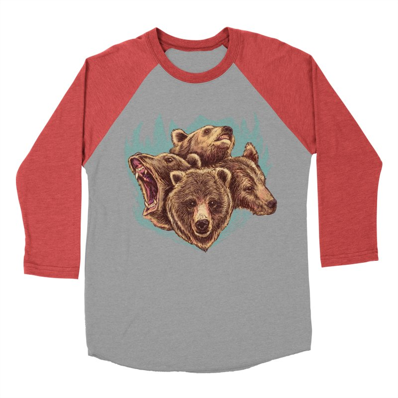 Four Bears Women's Baseball Triblend Longsleeve T-Shirt by Jason Castillo Illustration