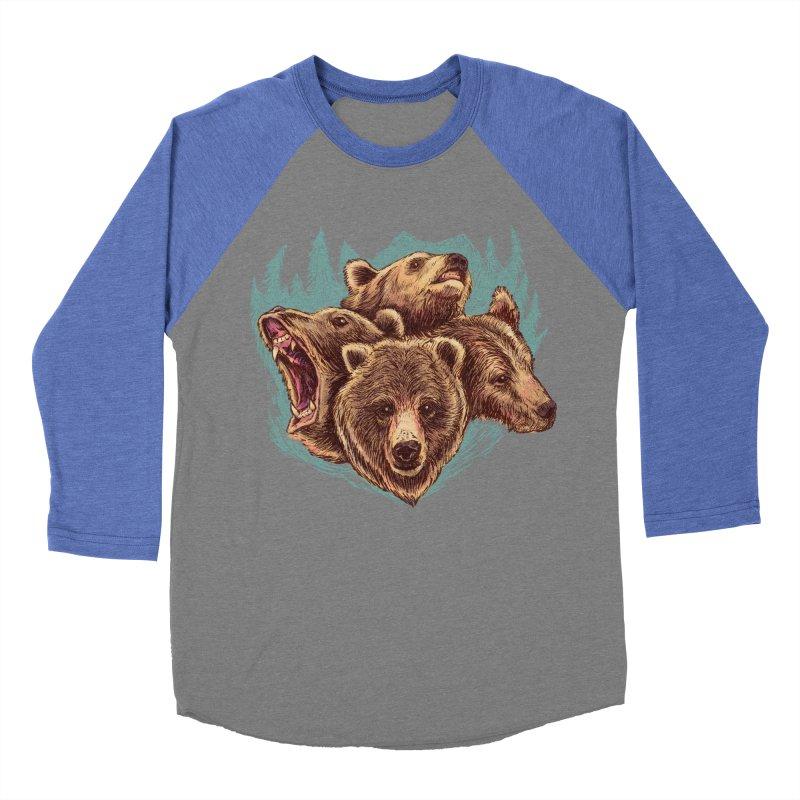 Four Bears Men's Baseball Triblend Longsleeve T-Shirt by Jason Castillo Illustration