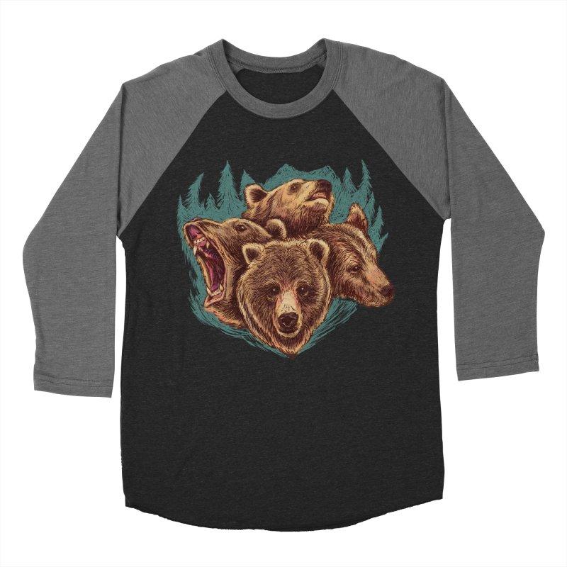 Four Bears Men's Baseball Triblend T-Shirt by Jason Castillo Illustration