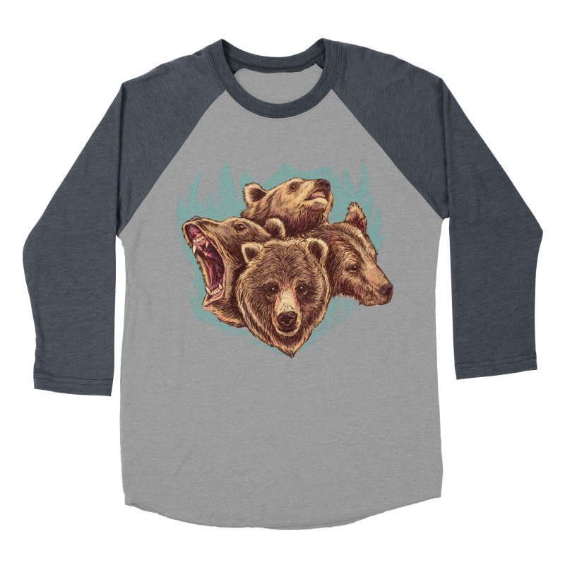 Four Bears Men's Baseball Triblend Longsleeve T-Shirt by Jason Castillo Illustration