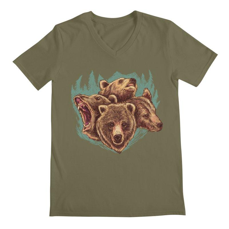 Four Bears Men's V-Neck by Jason Castillo Illustration
