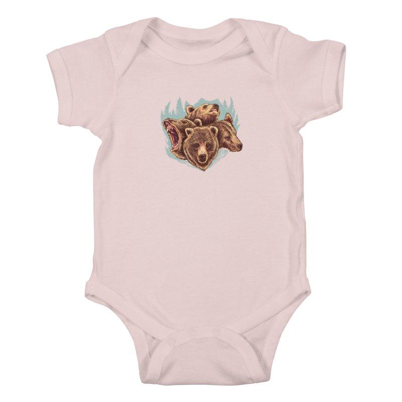 Four Bears Kids Baby Bodysuit by Jason Castillo Illustration