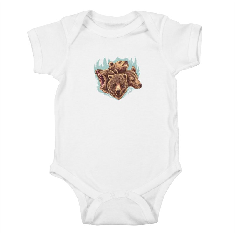 Four Bears Kids Baby Bodysuit by Jason Castillo Illustration