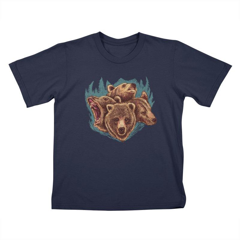 Four Bears Kids T-Shirt by Jason Castillo Illustration