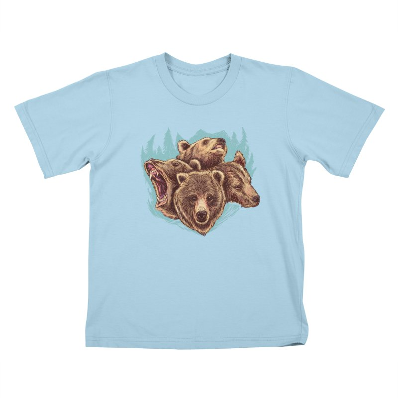 Four Bears Kids T-Shirt by Jason Castillo Illustration