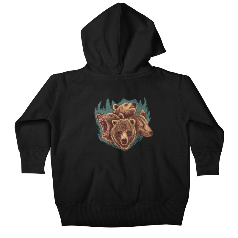 Four Bears Kids Baby Zip-Up Hoody by Jason Castillo Illustration