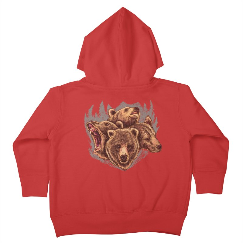 Four Bears Kids Toddler Zip-Up Hoody by Jason Castillo Illustration
