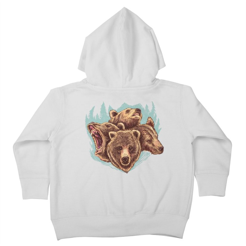 Four Bears Kids Toddler Zip-Up Hoody by Jason Castillo Illustration