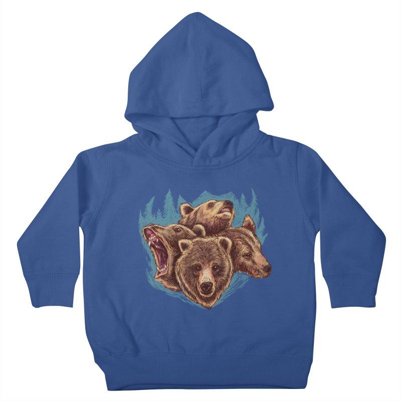 Four Bears Kids Toddler Pullover Hoody by Jason Castillo Illustration