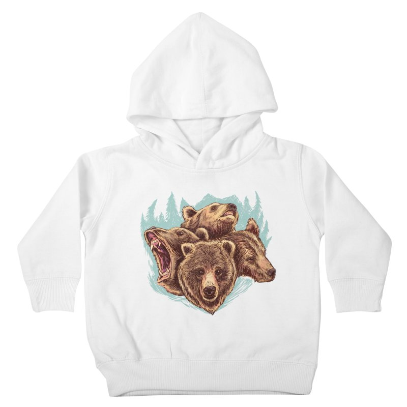 Four Bears Kids Toddler Pullover Hoody by Jason Castillo Illustration